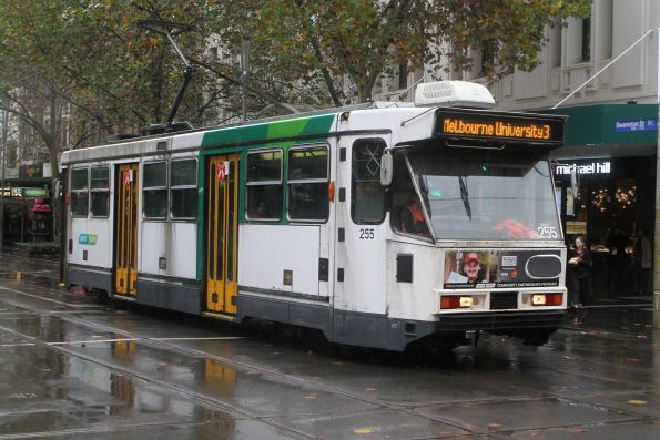A1.255 heads north on route 3 at Swanston and Bourke Street