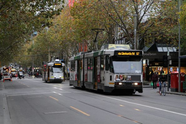B2.2065 heads south on route 67 at Swanston and Little Collins Street