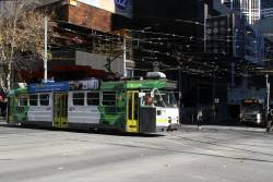 Z3.171 heads north on route 1 at Swanston and La Trobe Street