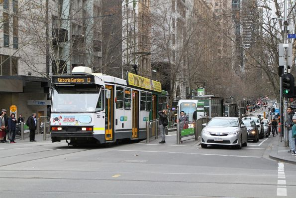 A1.252 heads east on route 12 at Collins and Swanston Street