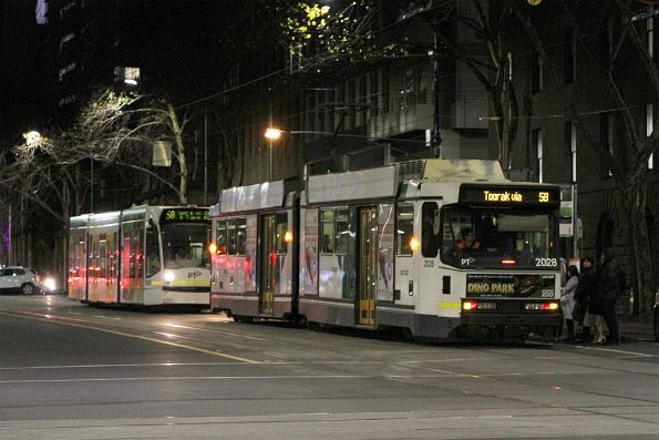 B2.2028 and D1.3535 head south on route 58 at William and Bourke Street