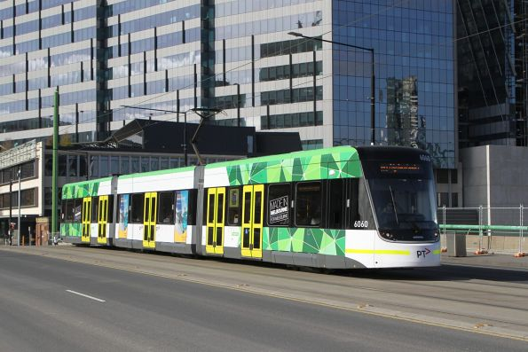E2.6060 heads west on route 86a over the La Trobe Street bridge