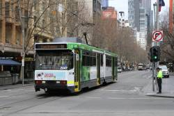 B2.2049 heads south on route 3 at Swanston and Collins Street