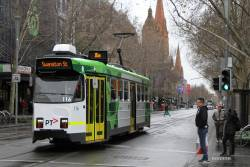Z3.116 heads north on route 16 at Swanston and Bourke Street