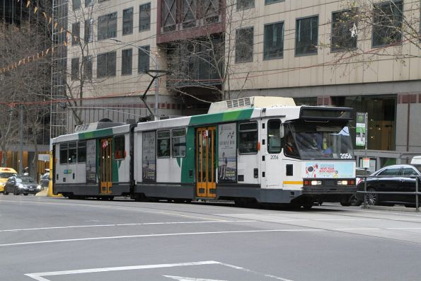 B2.2056 heads north on route 58 at William and Collins Street