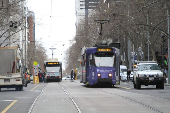 Z3.148 heads south on test at William and Collins Street