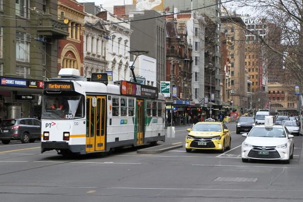 Z3.130 heads north on route 57 at Bourke and Elizabeth Street