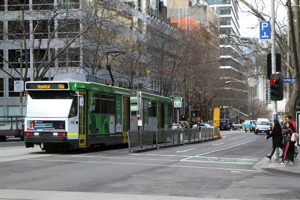 B2.2020 heads north on route 58a at William and Bourke Street