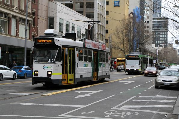 Z3.210 on route 57 and B2.2006 on route 19 heads south at Elizabeth and Collins Street