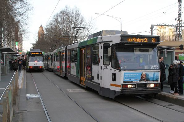 B2.2053 heads west on route 70 at Flinders and Queensbridge Street