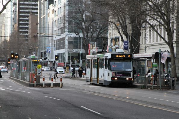 A2.272 heads east on route 70 at Flinders and Queen Street