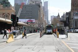 Z3.182 heads south on route 64 at Federation Square