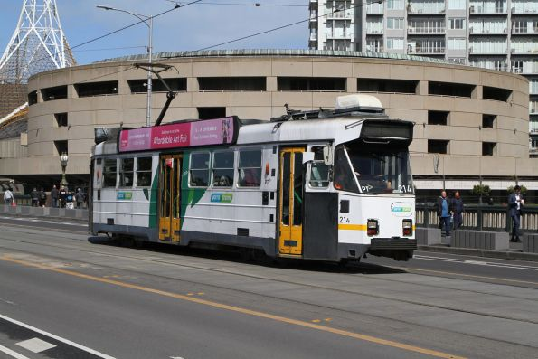 Z3.214 heads north on route 3 over Princes Bridge