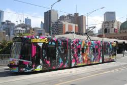 D1.3513 advertising 'Borderlands 3' heads north on route 72 at Federation Square