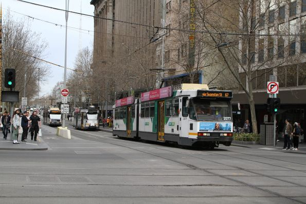 B2.2077 heads north on route 67 at Swanston and Collins Street