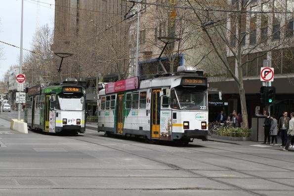 Z3.227 heads north on route 5 at Swanston and Collins Street