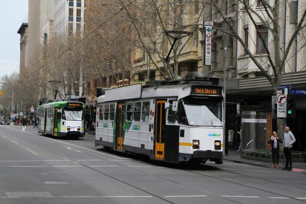 Z3.224 heads north on route 72 at Swanston and Little Collins Street