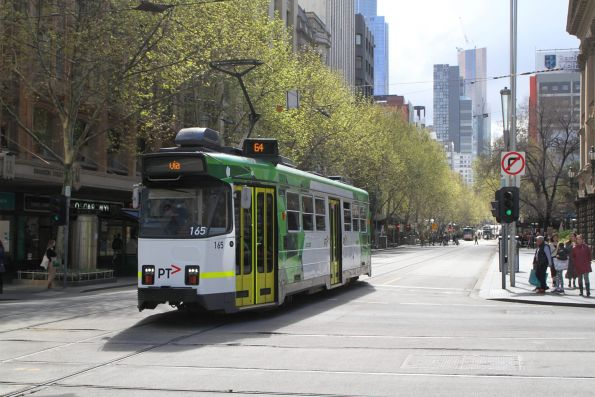 Z3.165 heads south on route 64 at Swanston and Collins Street