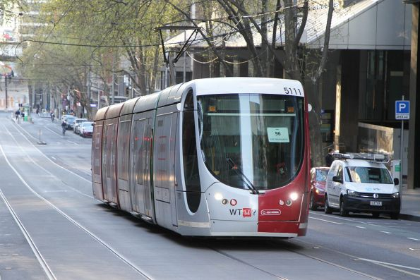 C2.5111 advertising 'Honda' heads east on route 96 at Bourke and William Street