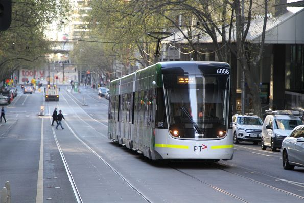 E2.6058 heads east on route 86 at Bourke and William Street