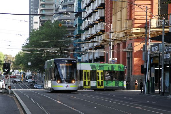E2.6065 heads south on route 96 at Spencer and Bourke Street