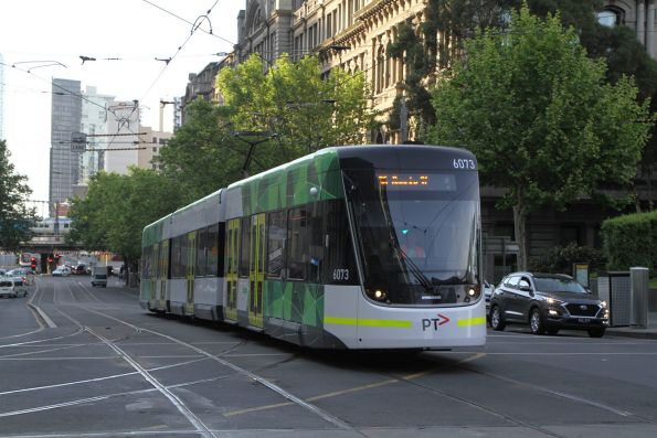 E2.6073 heads north on route 96 at Spencer and Collins Street