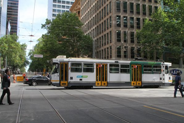 A1.234 heads west out of service at Collins and William Street