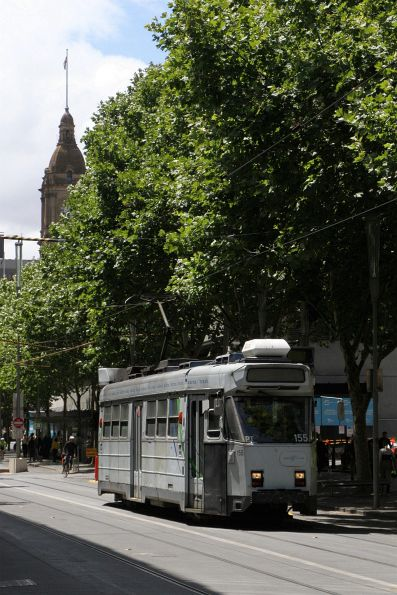 Z3.155 heads south on route 5 at Swanston and Flinders Street