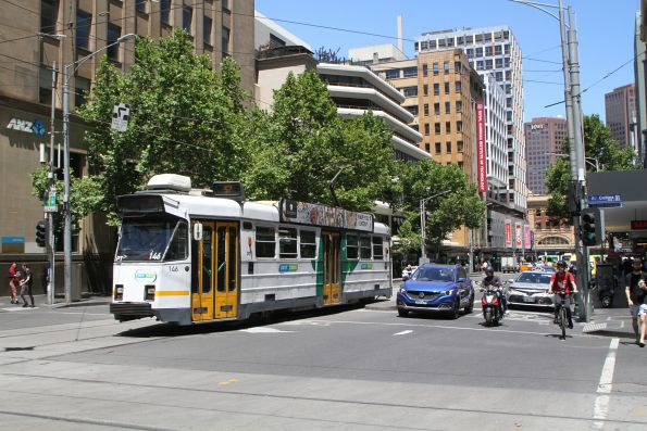 Z3.146 heads north on route 57 at Elizabeth and Collins Street