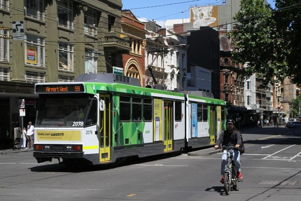 B2.2078 heads north on route 59 at Elizabeth and Bourke Street