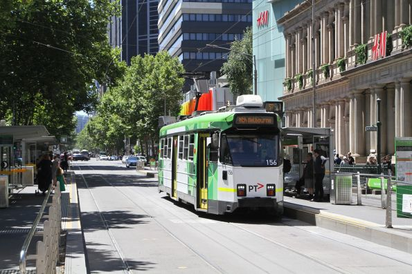 Z3.156 heads south on route 57 at Elizabeth and Bourke Street