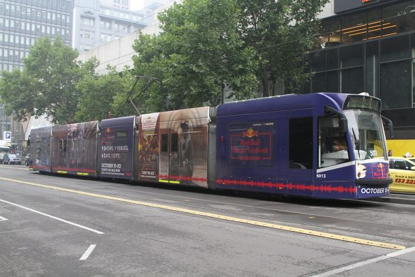 D2.5013 advertising 'Red Bull Music Festival' heads north on route 19 at Elizabeth and Bourke Street