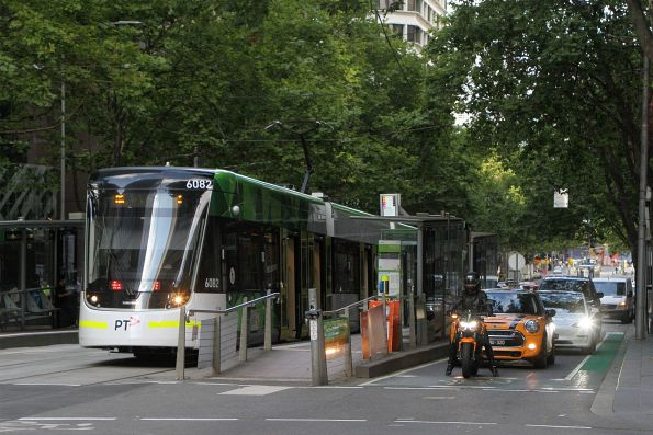 E2.6082 heads east on route 86 at Bourke and William Street