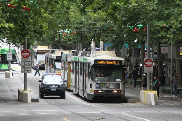 Victoria Police sick of waiting for a tram at Swanston and Little Bourke Street