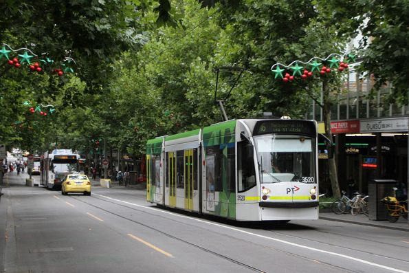 D1.3520 heads north on route 16 at Swanston and Lonsdale Street