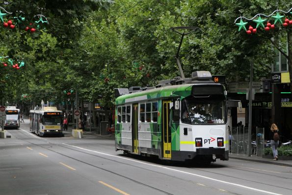 Z3.186 heads north on route 64 at Swanston and Lonsdale Street