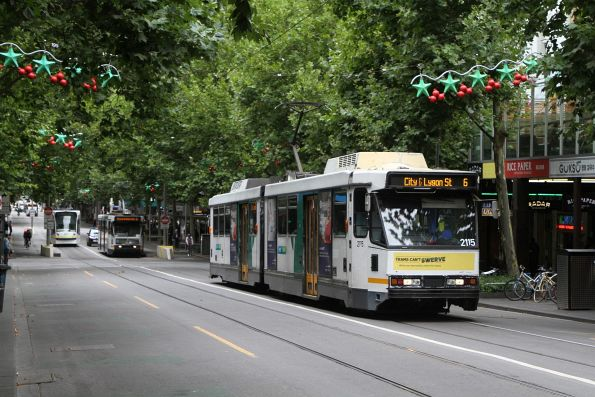 B2.2115 heads north on route 6 at Swanston and Lonsdale Street