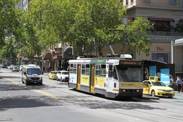 A1.248 heads west on route 12 at Collins and Swanston Street