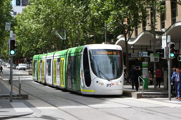 C2.5113 heads west on route 96 at Bourke and Swanston Street