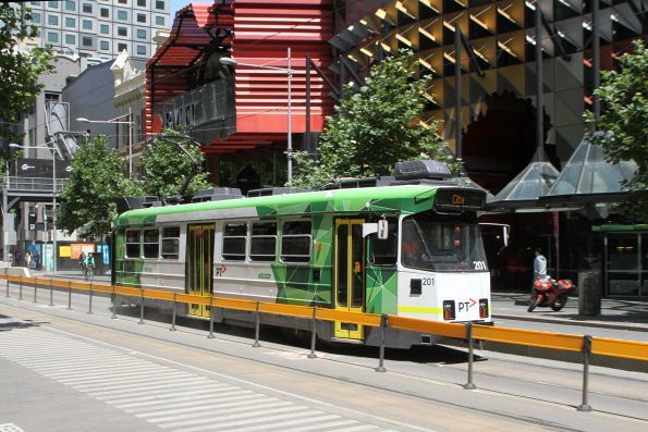 Z3.201 heads north on route 16 at Swanston and Franklin Street