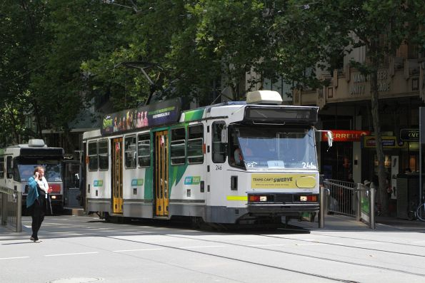 A1.246 heads east on route 12 at Collins and Swanston Street