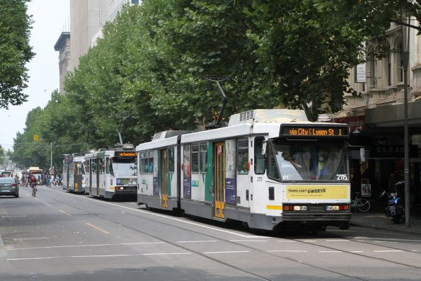 B2.2115 heads north on route 1 at Swanston and Bourke Street
