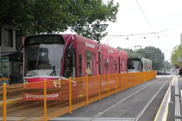 D1.3504 advertising 'Powershop' heads north on route 58 at William and Little Lonsdale Street