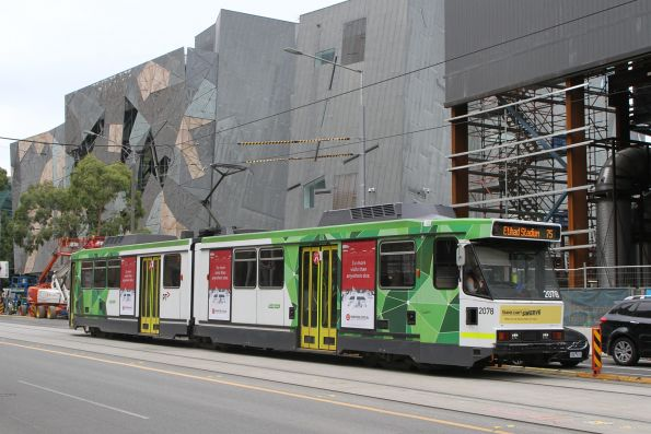 B2.2078 heads west on route 75 at Flinders and Swanston Street