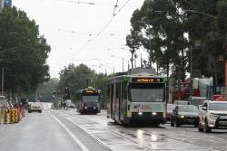 B2.2019 on route 75 and A2.281 on route 70 head west at Flinders and Swanston Street
