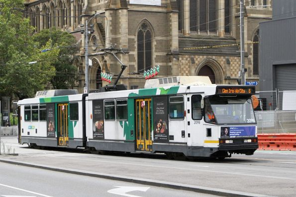 B2.2098 heads south on route 6 at Swanston and Flinders Street