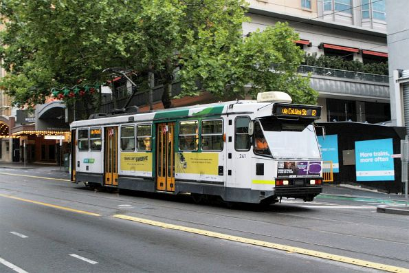A1.241 heads west on route 12 at Collins and Swanston Street