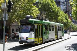 Z3.123 heads south on route 6 at Swanston and La Trobe Street