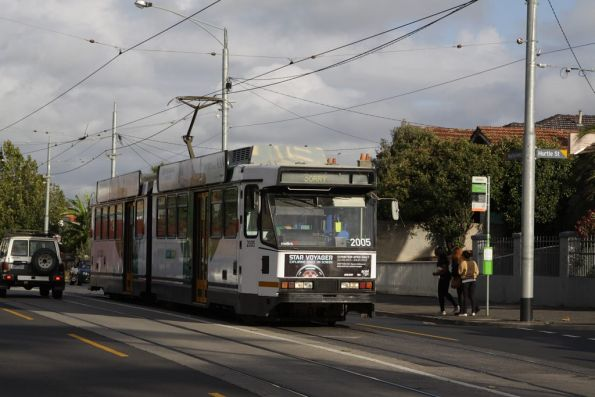 B2.2005 on Maribyrnong Road, out of service on the way to Essendon Depot due to the works on Mt Alexander Road