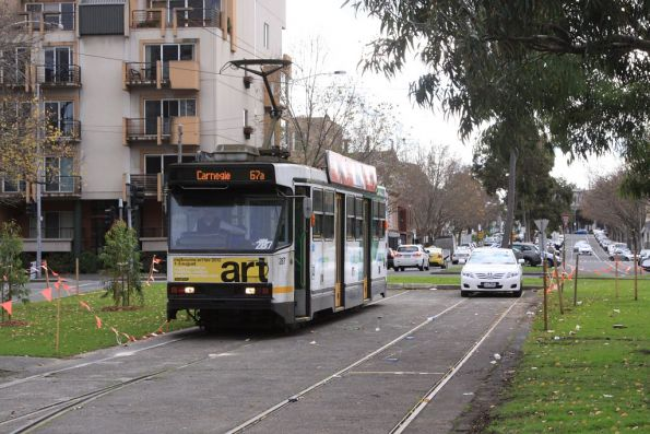 A2.287 with a route 67a service at the Dudley Street siding